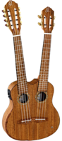 Ortega HYDRA Custom Built Series Укулеле тенор, с двумя грифами 4/8 струн, со звукоснимателем