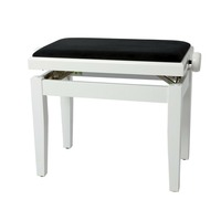 GEWA Deluxe White Ash банкетка для пианино, белая, ясень, 45-58см