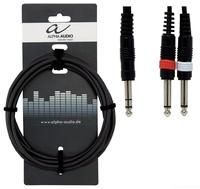 ALPHA AUDIO Basic Line Y-Cable 1,5 m аудио-кабель 1x6,3 mm stereo jack plug - 2x cinch