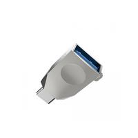Hoco UA9 OTG USB / Type C Переходник серебро