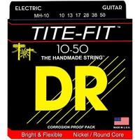 DR MH-10 TITE-FIT Lite-n-Tite Комплект струн для 6-струнной электро-гитары. Основа - круглая, обмотка - никель. 10 13 17 28 38 50 USA