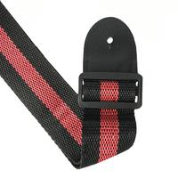 ROCKET LS-006-RD Ремень гитарный для акустических и электро гитар, цвет - чёрный с красной полоской, материал - полиэстер