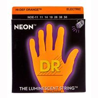 DR NOE-11 Neon Orange Комплект струн для электрогитары, никелированные, с покрытием, 11-50