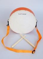 Lutner FLT-KTYG-25 Детский маршевый барабан оранжевый, с палочками.