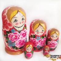 "Хохлома LHM10177 Матрешка ""Розы"" 5 кукольная"