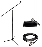 ALPHA AUDIO микрофонный комплект со стойкой и кабелем