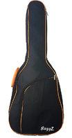 """BaggZ AB-41-7OA Чехол для акустической гитары, 41"""", защитное уплотнение 10мм 600D, цвет черный, оранжевая окантовка"""