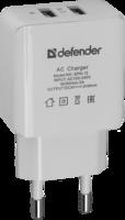 Defender EPA-12 Сетевой адаптер 2 порта USB, 5V/2А, пакет