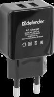 Defender UPС-12 2xUSB, 5V/2А, кабель, блистер Сетевой адаптер
