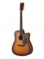 Homage LF-4121C-SB Акустическая гитара, санберст, с вырезом
