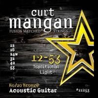 CURT MANGAN 12-53 80/20 Traditional Light Set струны для акустической гитары