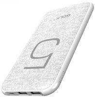 GOLF G24/ POWERBANK 5000 MAH + MICRO USB, LIGHTING /OUT USB 1 А, 2.1A/ WHITE АККУМУЛЯТОР