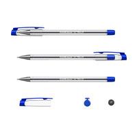 ULTRA L-20 Ручка шарик. 0,7 мм синий прозр. корп