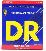 DR PHR-10/52 Pure Blues Комплект струн для электрогитары, никель, Big - Heavy, 10-52