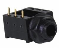Schulz S 358 — немецкое панельное джек-гнездо 6,3 мм стерео, пластиковое, золочёные паяльные контакты