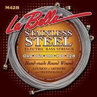 La Bella M42-B Комплект струн для 5-струнной бас-гитары, нерж.сталь, 40-128