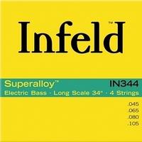 THOMASTIK Infeld IN344 струны для бас гитары, 45-105, спец. сплав, круглая оплетка, шестигранная основа