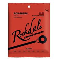 ROCKDALE RCS-2845H Струны для классической гитары. Основа струны: нейлон. Обмотка: посеребренная. Натяжение: сильное. Размер: 028-045 (A062148)