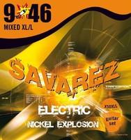 Savarez X50XLL Explosion Комплект струн для электрогитары, никелированные, 9-46