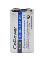 GoPower Крона 6LR61 BL1 Alkaline 9V (00-00017863) Батарейка (1/10/240)