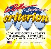 La Bella C500TT Criterion Ultra Light Струны для акустической гитары