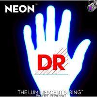 DR NWE-10 Neon White Комплект струн для электрогитары, никелированные, с покрытием, 10-46