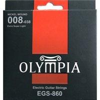 OLYMPIA EGS860 Nickel Wound 008-038 струны для электро гитары, никель