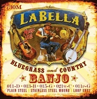 La Bella 730M-LE Комплект струн для 5-струнного банджо