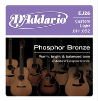 D'ADDARIO EJ26 Набор 6 струн для гитары акустик фосфор-бронза 011-052