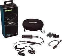 Shure SE215-K+BT2-EFS. Вставные Bluetooth наушники (внутриканальные) с микрофоном, черные.