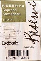 Rico DIR0230 Reserve Трости для саксофона сопрано, размер 3.0, 2шт