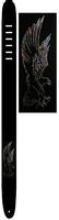 """Perri's P25E-105 - Кожаный ремень (2,5"""") для гитары (серебряная орёл)"""