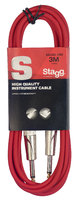 STAGG SGC3DL CRD - гитарный шнур, jack-jack, длина 3 метра, цвет красный