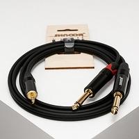SHNOOR MJ2JM-2m Y-кабель 3,5 мм миниджек - 2 моно-джека 6,3 мм, 2 м