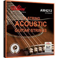 Alice AW4212-SL Комплект струн для 12-струнной акустической гитары, бронза 90/10, 10-47