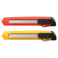 inФОРМАТ Нож канцелярский 9 мм комбинированный фиксатор желт.