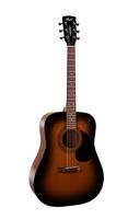 Cort AD810 W_BAG SSB Standard Series Акустическая гитара, санберст,чехол