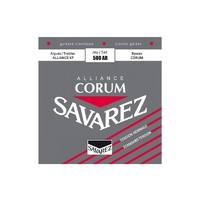 Savarez 500AR Corum Alliance Red standard tension струны для классической гитары, нейлон