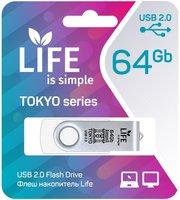 LIFE TOKYO 64GB White USB 2.0 Флешка