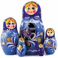 "Хохлома LHM10184 Матрешка ""Жар птичка малая"" 5 кукольная"