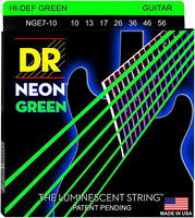 NGE7-10 Neon Green Комплект струн для 7-струнной электрогитары, никелированные, с покр., 10-56, DR
