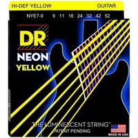 DR NYE7-9 Neon Yellow Комплект струн для 7-струнной электрогитары, никелированные,с покрытием, 9-52