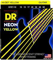 DR NYE7-10 Neon Yellow Комплект струн для 7-струнной электрогитары, никелированные, с покр., 10-56