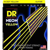 DR NYE7-11 Neon Yellow Комплект струн для 7-струнной электрогитары, никелированные, с покр., 11-60