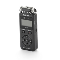 TASCAM DR-05 Ручной портативный аудио рекордер, стерео, 2 микрофона, mp3, waw, micro USB, перезапись
