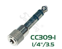 Soundking CC309-1 Переходник (разъем переходной) 6,35мм стерео штекер - 3,5мм стерео гнездо