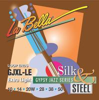 La Bella GJXL-BE Gypsy Jazz Extra Light Комплект струн для акустической гитары, 10-50, сталь/шелк