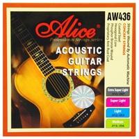 Alice AW436P-XL Комплект струн для акустической гитары, фосфорная бронза, 10-47