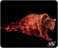 """Коврик VS для компьютерной мыши """"Flames"""", """"Бурый медведь"""", (240*320*3 мм), ткань+резиновое основание"""