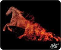 """Коврик VS для компьютерной мыши """"Flames"""", """"Лошадь"""", (240*320*3 мм), ткань+резиновое основание"""
